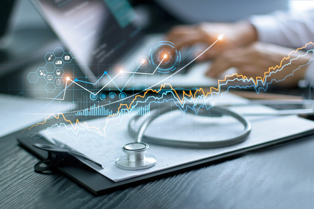 Healthcare professional analyzing claim denials